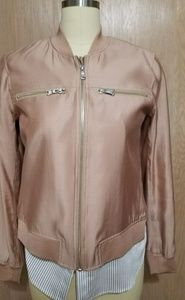 Trouve rose bomber jacket size S